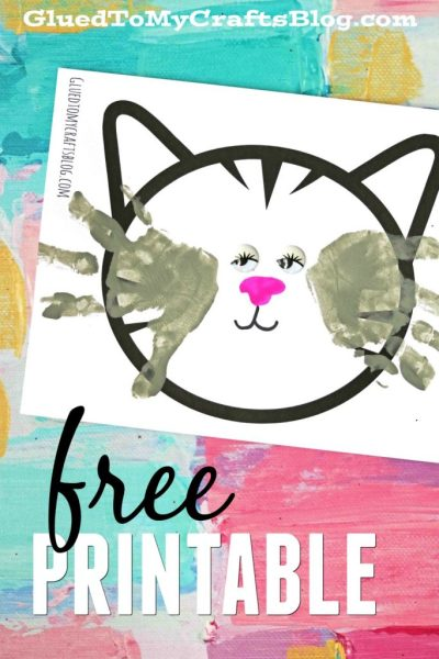 Handprint Cat Whiskers - Free Printable