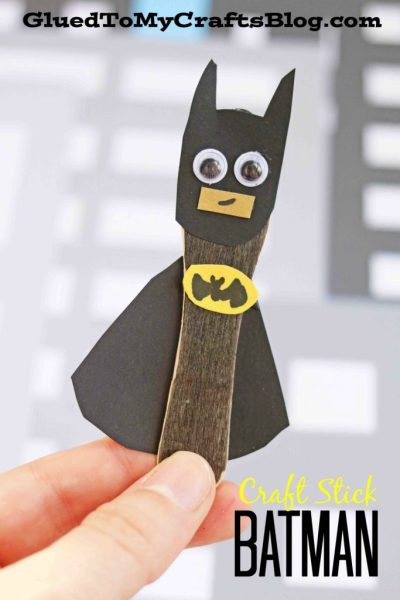 Craft Stick Batman - Kid Craft