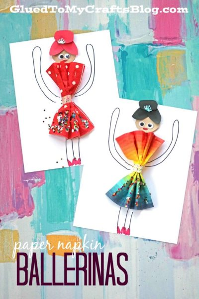 Paper Napkin Dress Ballerinas - Kid Craft
