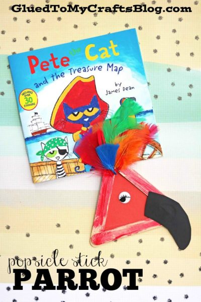 Popsicle Stick Parrot - Kid Craft
