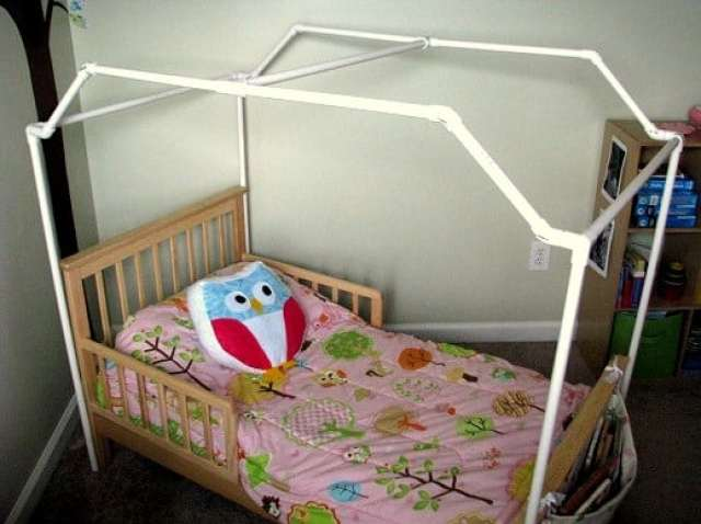 PVC Framed Canopy Bed