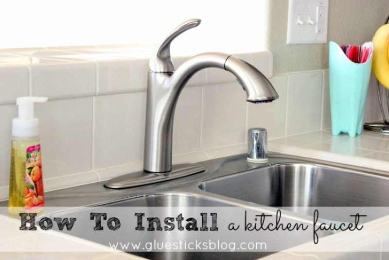 Kitchen Faucet Installation how to install a kitchen faucet | gluesticks