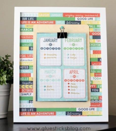 Birthday Board Frame