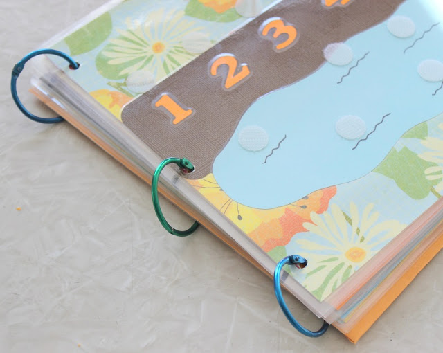 cardstock busy book for kids with rings