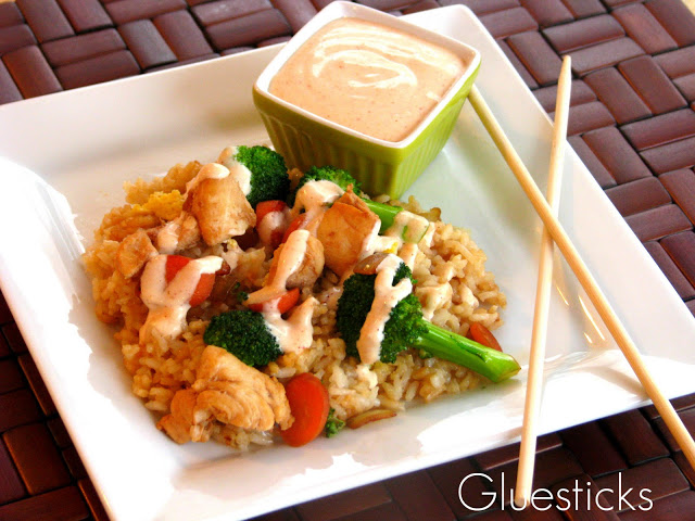 Make your own homemade Yum Yum Sauce when you're cooking up a stir fry or yummy fried rice at home. This is it, folks! THE sauce that they serve at the Japanese Steakhouse restaurants!