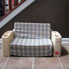 Slip Cover Chair And A Half Massage With Heat Little Sofa Makeover - Gluesticks