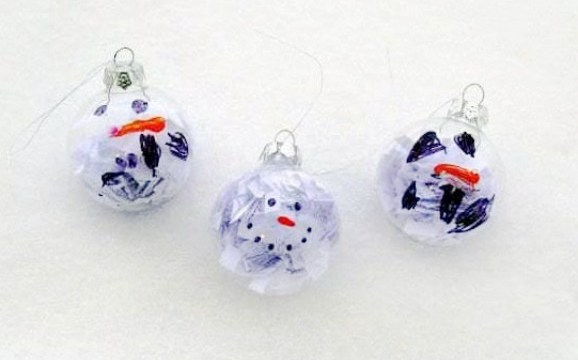 Easy Snowman Ornament: Quick and Easy Preschool Craft