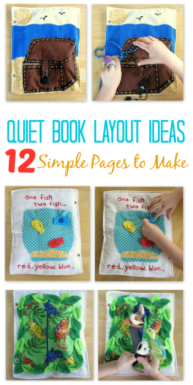 Quiet Book Layout Ideas 12 Simple Pages To Make