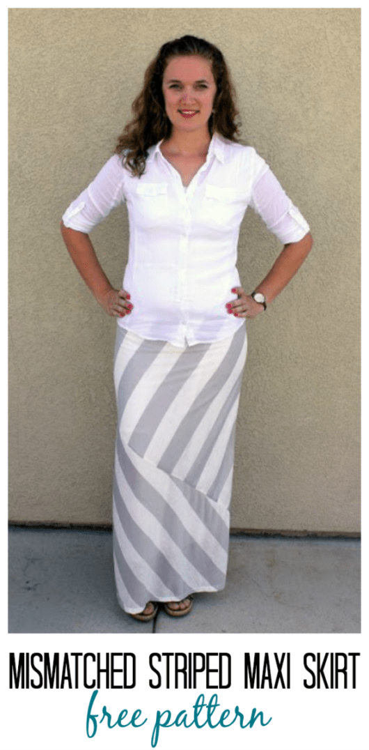 e5849a322833 I absolutely love knit skirts and could live in them all summer. Light,  breezy, flowy, and feminine. The problem with making them is finding cute  knit ...