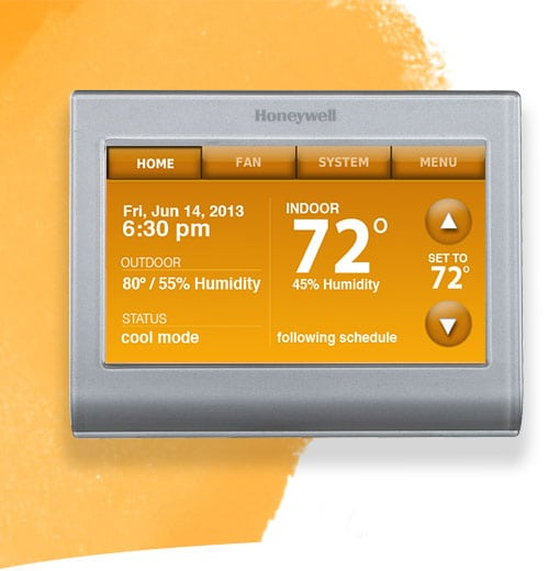 the new honeywell wi fi smart thermostat gluesticks. Black Bedroom Furniture Sets. Home Design Ideas