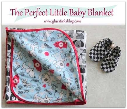 Easy Knit Receiving Blanket : Easy Knit Receiving Blanket Gluesticks