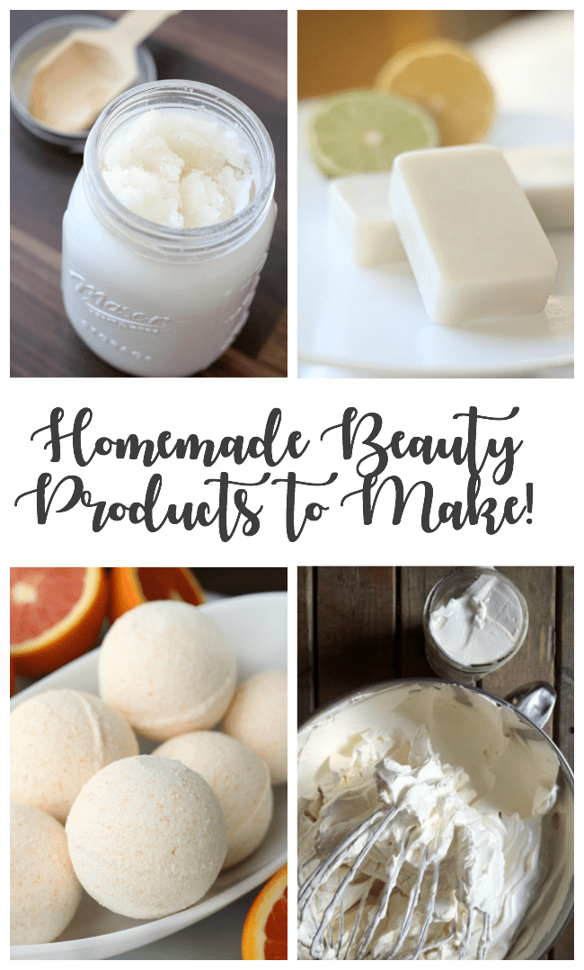Everyone loves to be pampered, but we don't always pamper ourselves. Here are a dozen recipes to make your own homemade beauty products. Perfect for pampering yourself or giving as gifts!