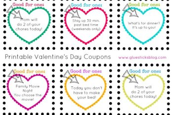 Printable Valentine's Day Coupons for Kids {Printed or Blank}