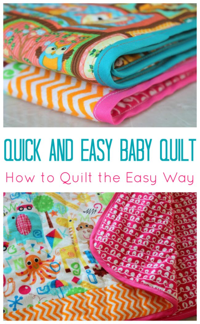 A Quick And Easy Baby Quilt How To Quilt The Easy Way Interesting Easy Baby Quilt Patterns
