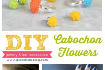 DIY Cabochon Flowers {mold & bake!}