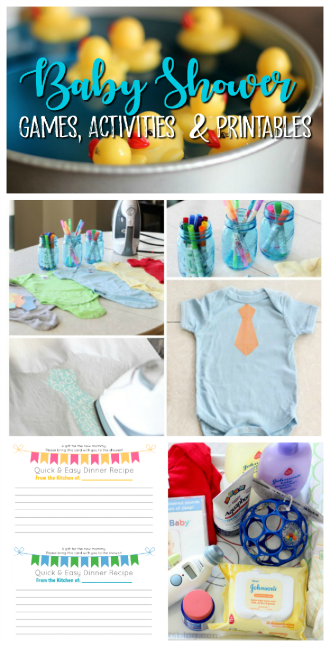 baby shower games activities free printables