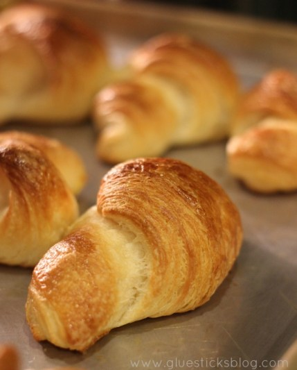 Buttery and flaky, these homemade croissants are absolutely delicious. If you've ever been intimidated by making puff pastry trust me when I say that it isn't hard to make! It does take some patience, but it is completely worth the time.