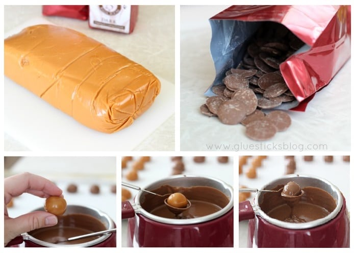 Homemade chocolate candies in 3 easy steps! Watch out See's! These delicious and decadent caramel chocolates are easy to make and perfect for holiday gift giving!