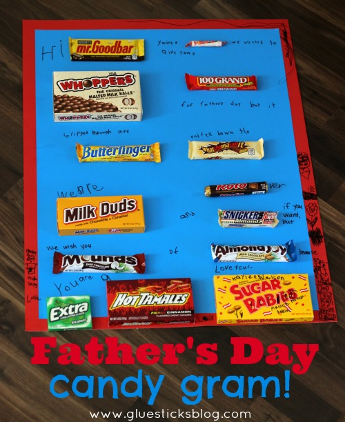 fathers day candy gram gluesticks