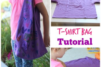 T Shirt Bag Tutorial (for kids!)