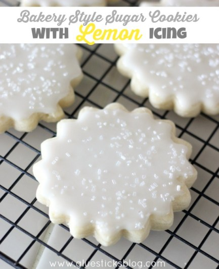 Bakery Style Sugar Cookies With Lemon Royal Icing