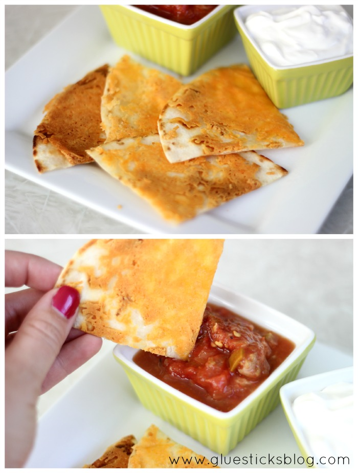 Crunchy Cheesy Chips: Crunchy Cheesy Chips are the perfect after school snack. Golden cheese on a tortilla, served with your favorite dipping sauces. Use whatever variety of cheese you'd like!