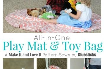 No Sew Play Mat & Toy Bag
