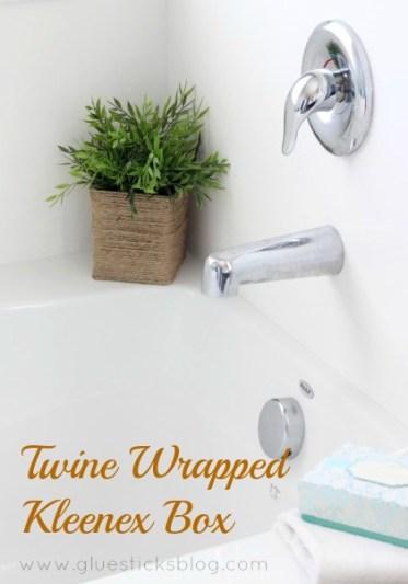 Twine Wrapped Kleenex box