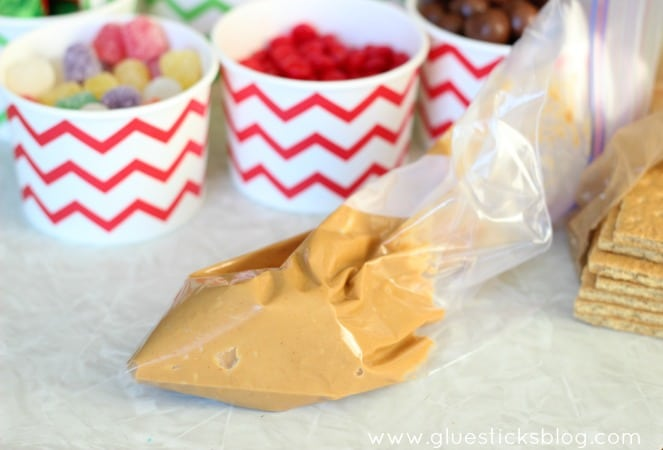Peanut Butter for Gingerbread Houses