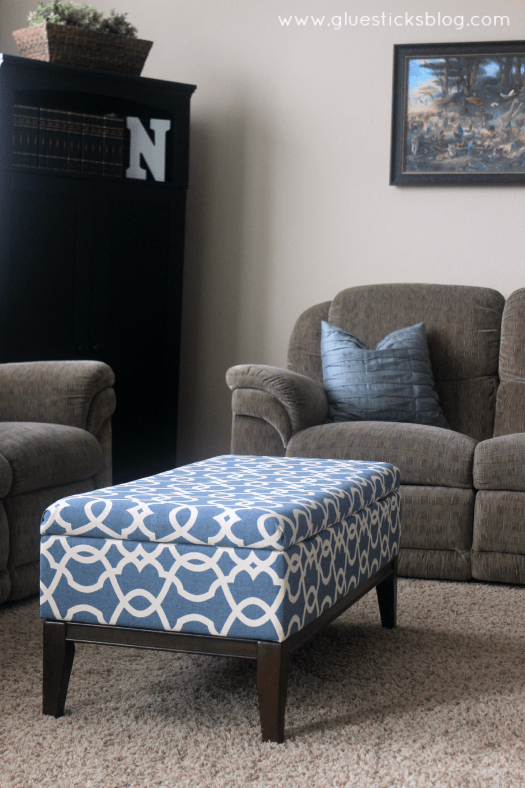 diy reupholster living room chair decorating ideas for with bay window how to a storage ottoman step by these photos will show you the quick