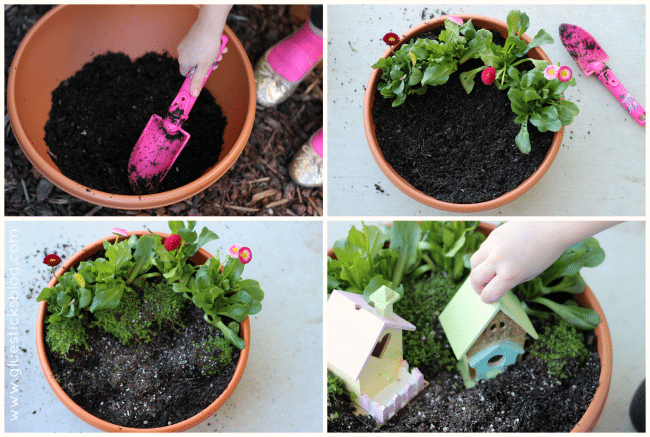 Faith, trust, and pixie dust are all you need to create a Pixie Hollow Fairy Garden. And maybe a pot, a few accessories and some flowers.