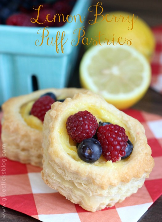 Lemon Berry Puff Pastries