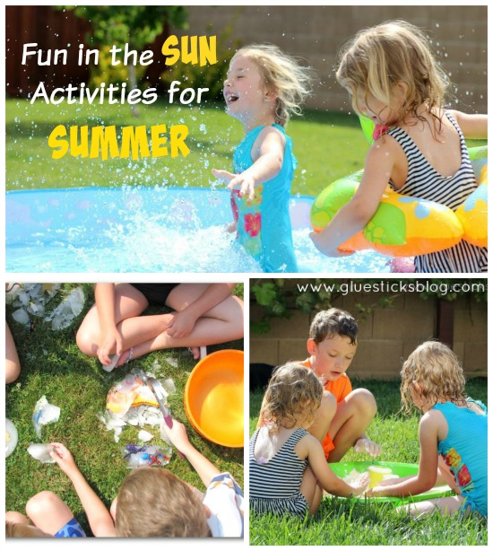A collection of summeractivities, crafts, and treats to make with the kids this summer! Homemade bubbles, soaps, ice cream treats, games and more!