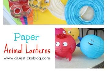 Kids Craft: Paper Animal Lanterns