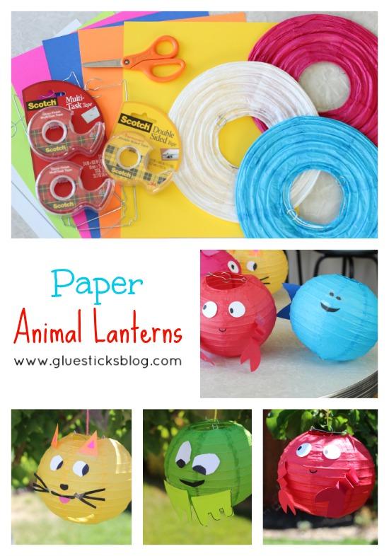 Paper Animal Lanterns