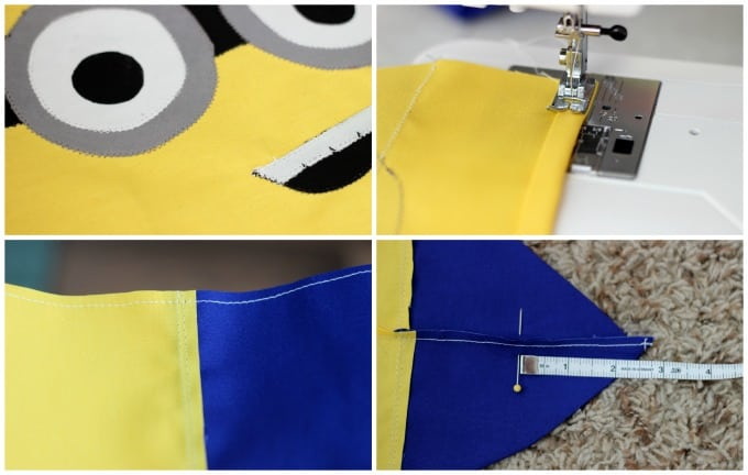 Make a DIY Minion Tote Bag that is perfect for trips to the pool, a library tote, or even a preschool book bag.