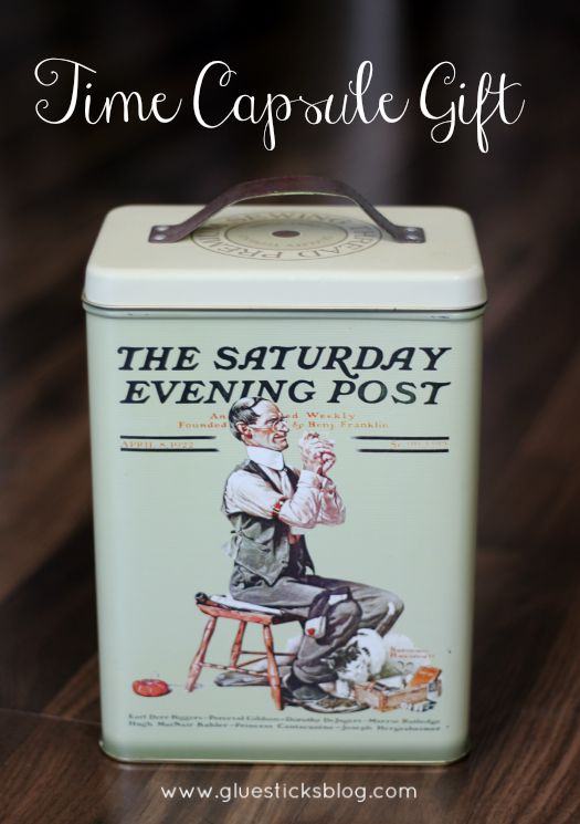 vintage tin with leather handle