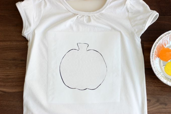 Pencil Eraser Painted T-Shirt
