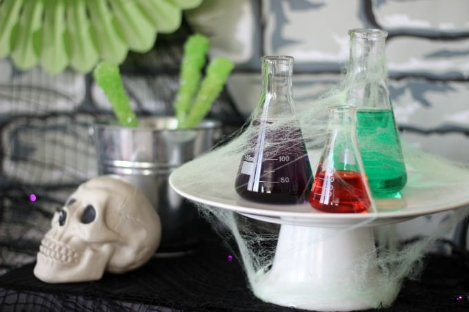 Come in if you dare! This Halloween mad scientist party is bubbling over with spooky concoctions, eye popping decor, and tons of fun!