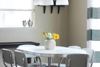 Reupholstered Vintage Diner Set