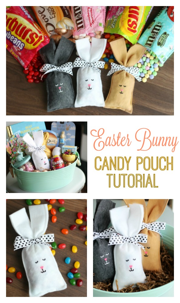 These Easter Bunny Candy Filled Party Favors are quick and easy to make and fun for a class party or to surprise your kids in their Easter basket!