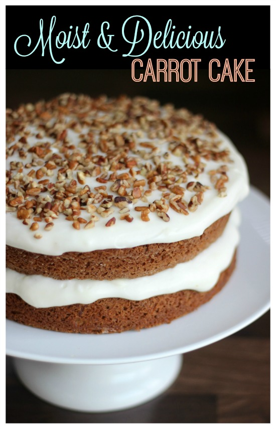 This carrot cake recipe is so delicious and flavorful and perfect for this time of year. Bright, beautiful, and definitely Easter Bunny approved. This would be the perfect addition to an Easter brunch or spring themed get together.