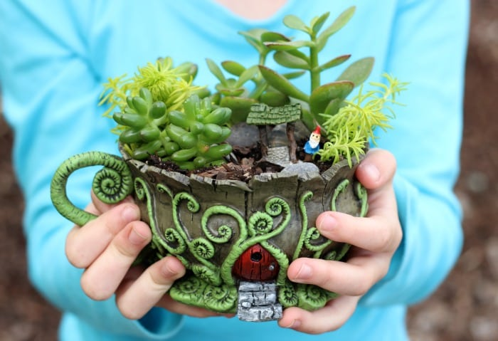 Tea Cup Fairy Garden | Gluesticks