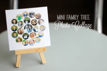 Mini Family Tree Photo Collage for Mother's Day