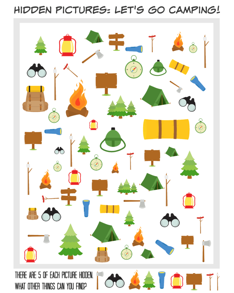 Printable Hidden Picture Travel Games