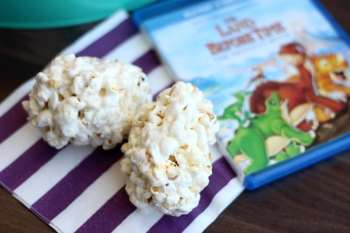 Movie Night Snacks: Dinosaur Egg Popcorn Balls