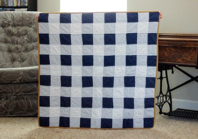 beech tree blue ii navy stacked quilt white gingham lane handmade
