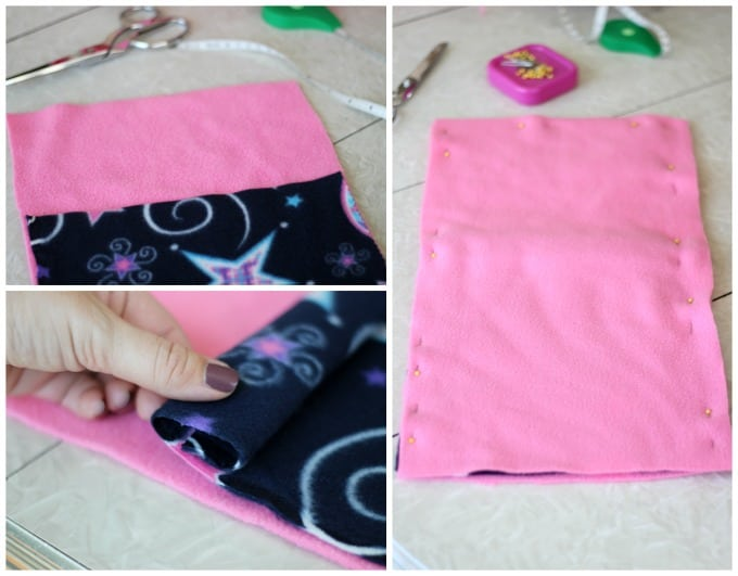 step by step collage for teddy bear sleeping bag