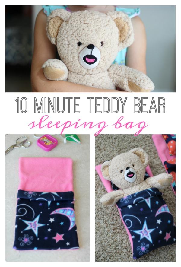 10 minute teddy bear sleeping bag gluesticks