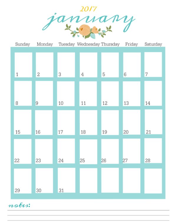 FREE Printable 2017 Planner Pages